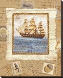 Ship To Shore II Bedruckte aufgespannte Leinwand von Lisa Ven Vertloh