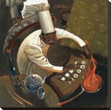 Chefs in Motion I Stretched Canvas Print by Dylan O'connor