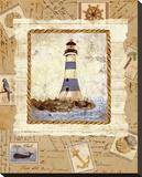 Ship To Shore IV Bedruckte aufgespannte Leinwand von Lisa Ven Vertloh