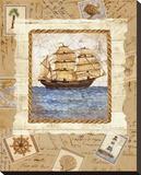 Ship To Shore I Bedruckte aufgespannte Leinwand von Lisa Ven Vertloh