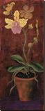Orchideen-TafelI Bedruckte aufgespannte Leinwand von Lisa Ven Vertloh