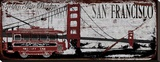 San Franciso Trolley Stretched Canvas Print by Karen J. Williams
