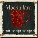 Affiche Mocha - Java Toile tendue sur châssis par Karen J. Williams
