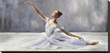 Ballerina Stretched Canvas Print by Pierre Benson