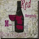 Vin rouge Toile tendue sur châssis par Karen J. Williams