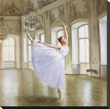 Le Grand Salon II (detail) Stretched Canvas Print by Pierre Benson