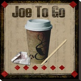 Joe To Go Toile tendue sur châssis par Karen J. Williams