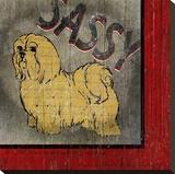 Shitsu Toile tendue sur châssis par Karen J. Williams