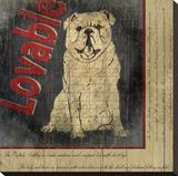 Bull Dog Toile tendue sur châssis par Karen J. Williams