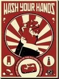 Wash Your Hands Impressão em tela esticada por Steve Thomas