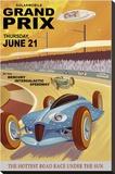 Mercury Grand Prix Stretched Canvas Print by Steve Thomas