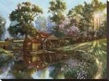 Heartland Mill Stretched Canvas Print by Nenad Mirkovich