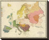 Ethnographic, Europe, c.1856 Stretched Canvas Print by Gustaf Kombst