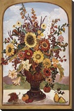 Autumn Vase Stretched Canvas Print by Suzanne Etienne