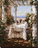 Dejeuner Apres Le Sail Pingotettu canvasvedos tekijänä  Benjamin
