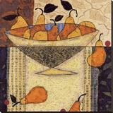 Asian Pears In Bowl Toile tendue sur châssis par Penny Feder