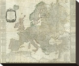 Composite: Europe, c.1787 Stretched Canvas Print by Thomas Kitchin