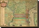 Philadelphia, c.1802 Bedruckte aufgespannte Leinwand von Charles P. Varle