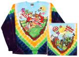 Long Sleeve: Grateful Dead - Biplane Bears T-shirt a maniche lunghe