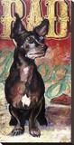 Bad Dog Stretched Canvas Print by Marilyn Kelley
