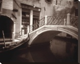 Canal Bridge Stretched Canvas Print by David Westby