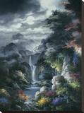 Cañón con niebla nocturna Reproducción de lámina sobre lienzo por James Lee