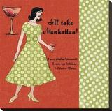 Manhattan Lady Bedruckte aufgespannte Leinwand von Lisa Ven Vertloh