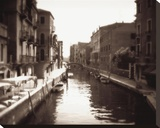 Venetian Canal Stretched Canvas Print by David Westby