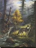 Timber Wolf Impressão em tela esticada por Rudi Reichardt