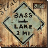 Bass Lake Kunst op gespannen canvas van Janet Kruskamp