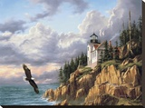 Bass Harbor Head Lighthouse Stretched Canvas Print by Rudi Reichardt