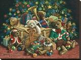 Oso de peluche navideño Reproducción de lámina sobre lienzo por Janet Kruskamp