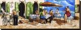 Monday Morning at Cafe da Vinci Sträckt kanvastryck av Ronald West