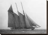 The Schooner Karina at Sail, 1919 Stretched Canvas Print by Edwin Levick