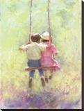Sommerschaukel Bedruckte aufgespannte Leinwand von Richard Judson Zolan