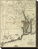 State of Rhode Island, c.1796 Stretched Canvas Print by John Reid