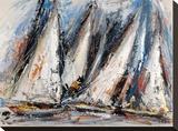 Vele nel cielo Stretched Canvas Print by Luigi Florio