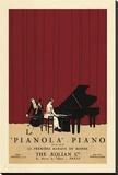 Le Pianola Opspændt lærredstryk af Susan W. Berman