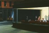 Nachtfalken Poster von Edward Hopper