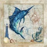 Nautical Swordfish Posters por Jill Meyer
