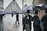 Paris på en regnvejrsdag Posters af Gustave Caillebotte