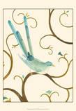 Avian Arabesque I Poster por Erica J. Vess