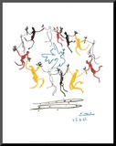 Nuoruuden tanssi Pohjustettu vedos tekijänä Pablo Picasso