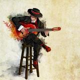 Flamenco del Fuego II Affiche