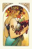 Fruta Láminas por Alphonse Mucha