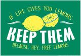 Free Lemons Stampe di  Snorg Tees