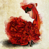 Flamenco del Fuego I Affiches