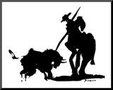 Stierkampf IV Druck aufgezogen auf Holzplatte von Pablo Picasso
