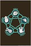 Rock Paper Scissors Lizard Spock Foto di  Snorg Tees