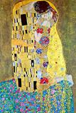 De kus Schilderij van Gustav Klimt